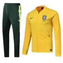 Conjunto Agasalho do Brasil Verde e Amarelo Nike 2018