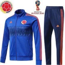 Conjunto de Treino Agasalho Seleção da Colômbia Adidas 2018 Azul