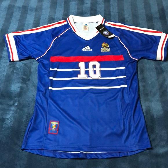 4057c43c09 Camisa França Adidas 1998 Copa do Mundo Uniforme Home 1