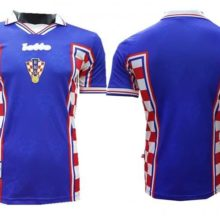 Camisa Croácia Lotto 1998 Copa do Mundo Away (Uniforme 2)