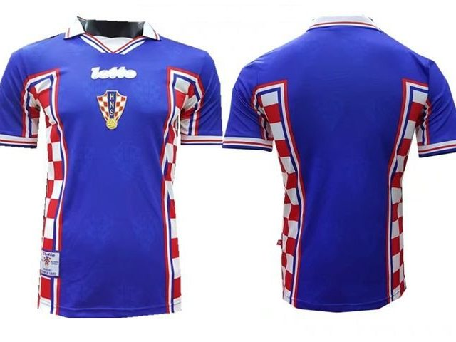 ... Camisa Croácia Lotto 1998 Copa do Mundo Away (Uniforme 2) d4d5e4a1b0227