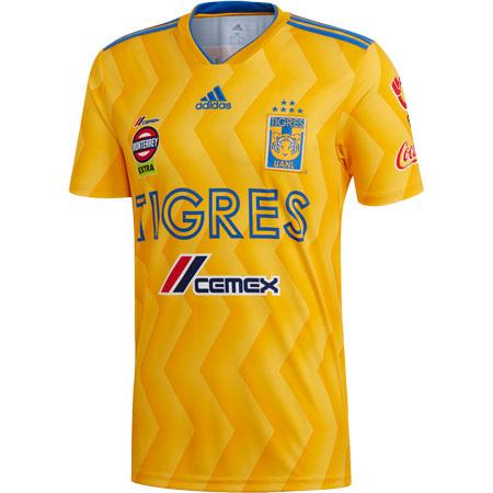 Camisa Tigres do México Adidas Oficial 2018-19 Home I (Uniforme 1) fa30d575b4909