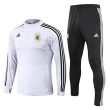 Conjunto Agasalho Adidas Seleção Argentina 2018 II Branco