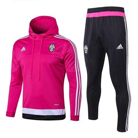 acfcee2a42a Conjunto Agasalho da Juventus Rosa Adidas 2015-2016 Retrô ...