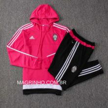 Conjunto Agasalho da Juventus Rosa Adidas 2015-2016 Retrô
