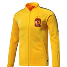Conjunto Agasalho Guangzhou Evergrande FC Nike Amarelo 2018-2019