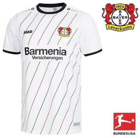 4ec57c540 Camisa Bayern Leverkusen Branca Oficial Jako 2018-19 Away II (Uniforme 2)
