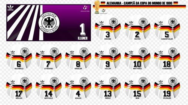 67541677dfe Camisa Alemanha 1990 Copa do Mundo Adidas Home (Uniforme 1)