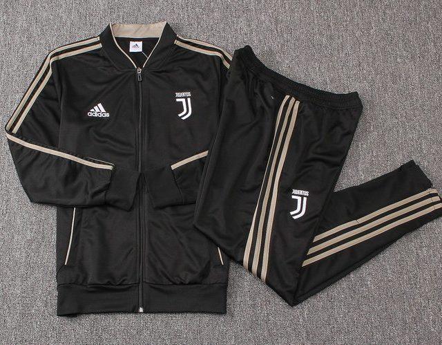24bb6fe27ec Conjunto Agasalho Adidas da Juventus 2018 2019 Preto