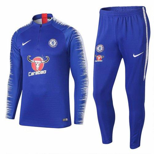 a8ead4fdc Conjunto de Treino Nike Chelsea 2018 2019 Carabao Azul