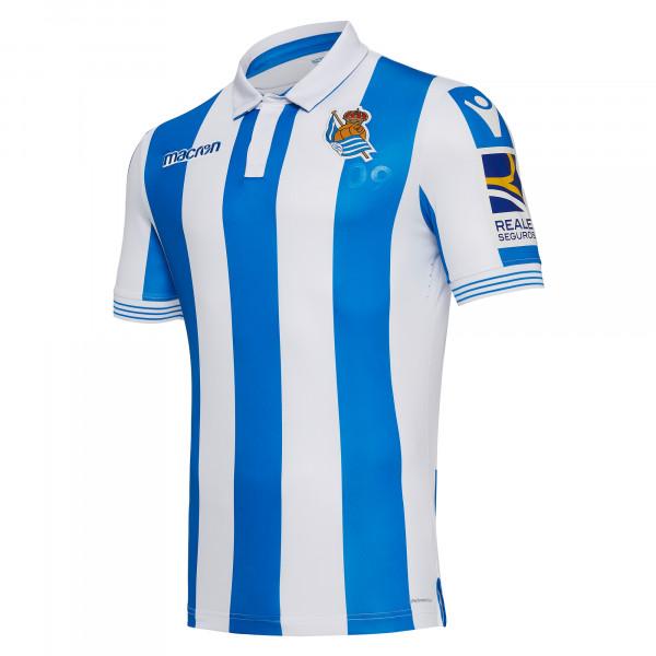 Camisa Real Sociedad 2018 2019 Home (Uniforme 1) 3a59f4d1ed1a8