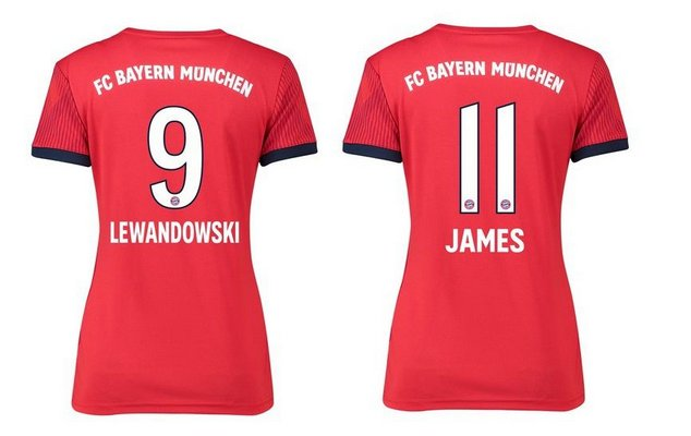 852f6b2f9ce Camisa Bayern de Munique 2018 2019 (Home - Uniforme 1) - Feminina