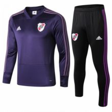 Conjunto de Treino River Plate 2018 2019 Training Suit Purple